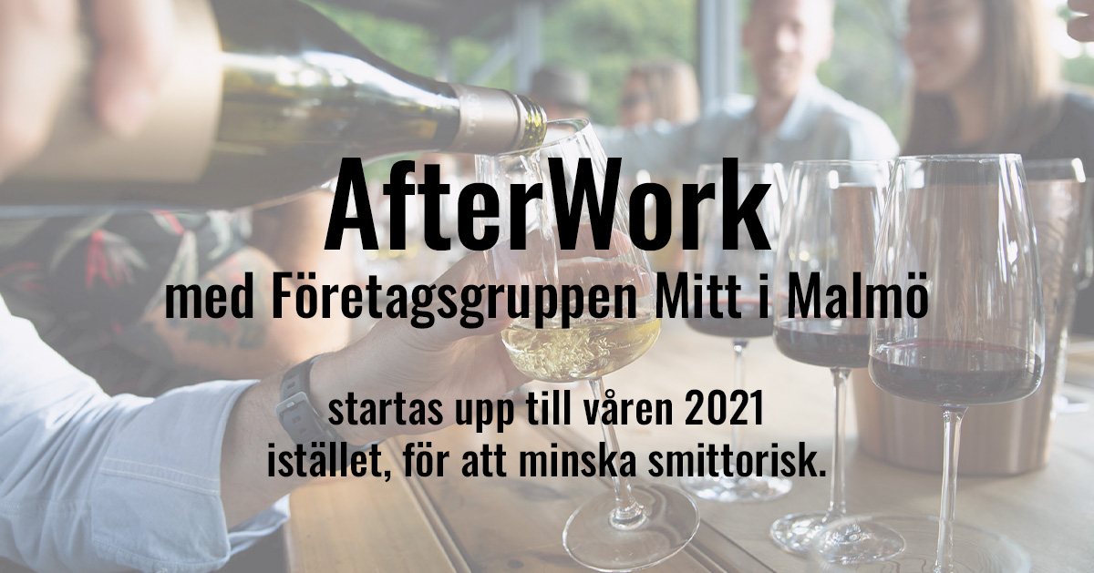 Afterwork med Mitt i Malmö startas upp 2021!